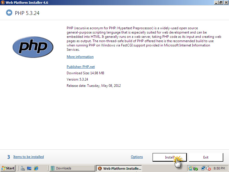 install-php-on-iis-05
