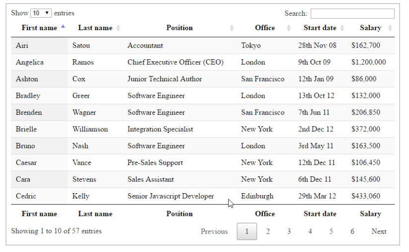 การติดตั้งใช้งาน Datatables กับการดึงข้อมูลแบบ AJAX Server-side [PHP+MySQL]